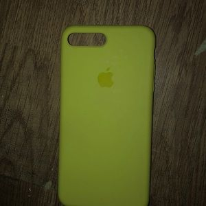 apple silicone yellow case, iphone 7-8 plus